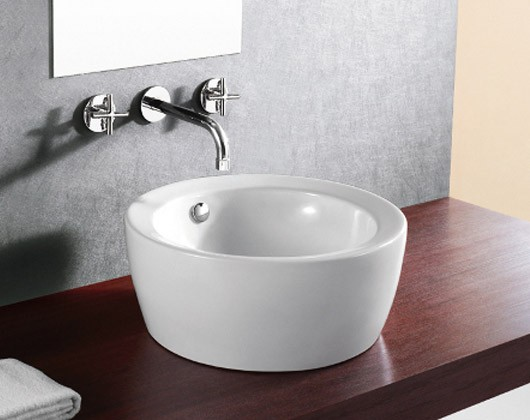 Top Mount Bathroom Sink Round