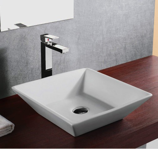 16 Inch European Design Slope Wall Porcelain Ceramic Countertop Bathroom  Vessel Sink Good Looking