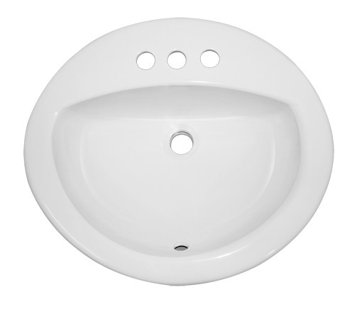 Porcelain Ceramic Vanity Drop In Bathroom Vessel Sink 20 3 8 X 17 5 16 X 5 15 16 Inch