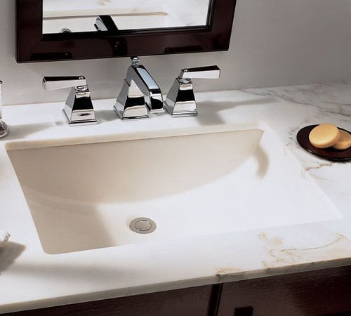 Rectangular White Biscuit Porcelain Ceramic Vanity Undermount Bathroom Vessel Sink 21 X 15 X