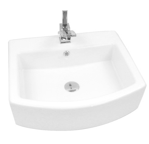 Porcelain Ceramic Single Hole Countertop Bathroom Vessel Sink 22 x