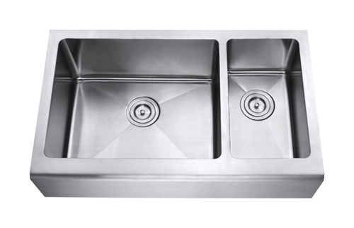 30 Inch Apron Front Sink : Inch Stainless Steel Smooth Flat Front Farm Apron Kitchen Sink 70/30 ...