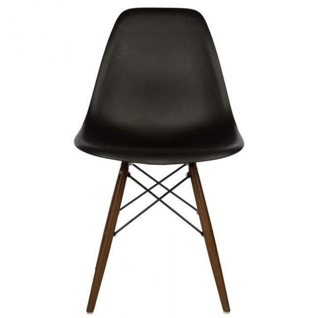 Eames Style DSW Dining Shell Chair with Dark Walnut Eiffel  : dsw black walnut leg2 from www.cbath.com size 650 x 650 jpeg 30kB