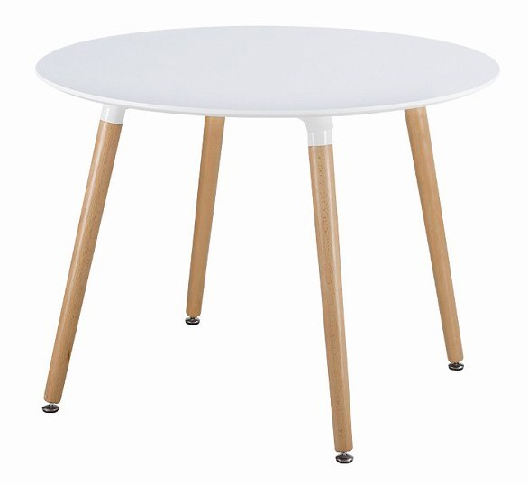 Eames style dsw white round dining table from for Table eames dsw