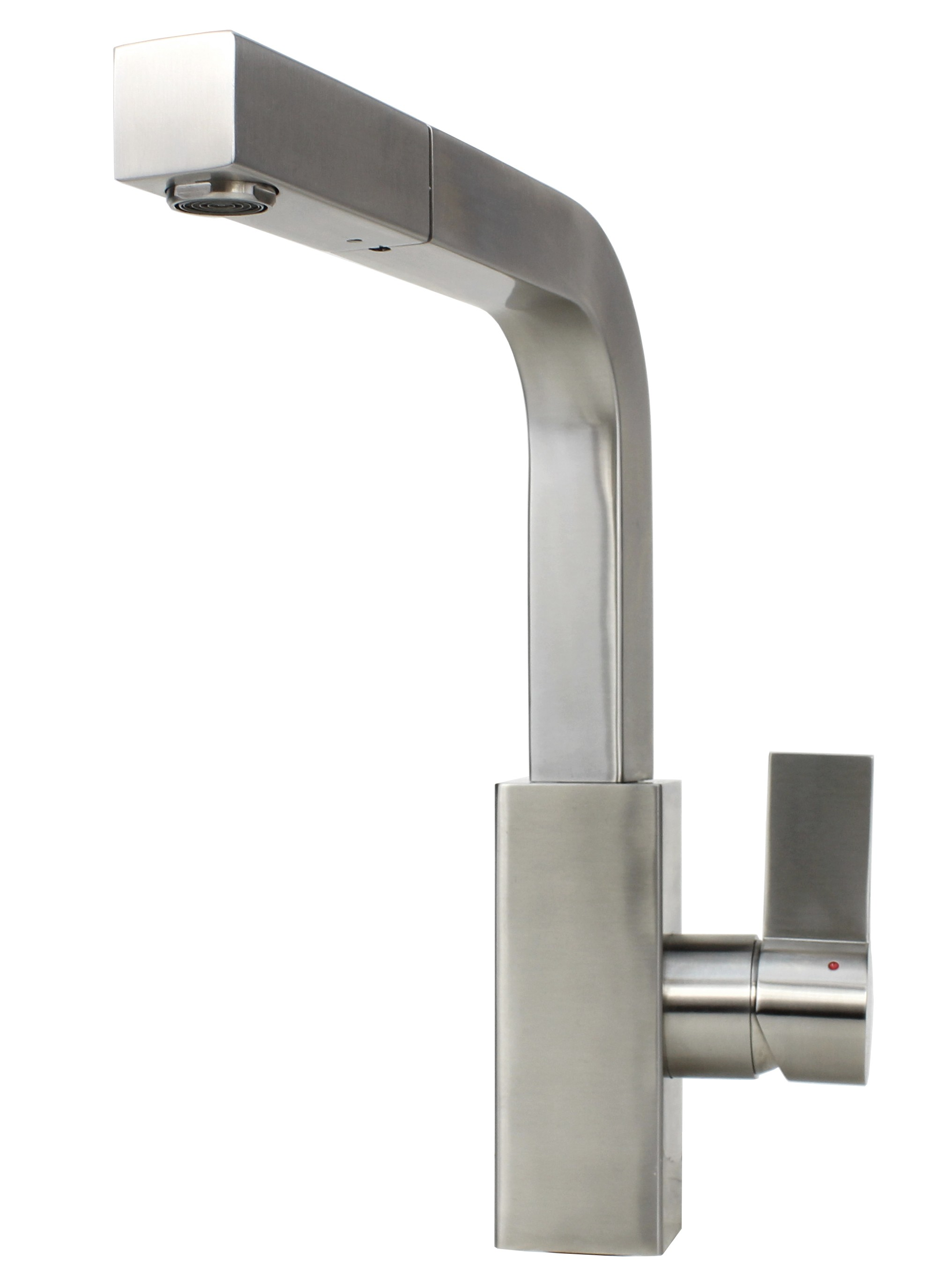 Ariel Carmela Stainless Steel Lead Free Single Handle Pull Out