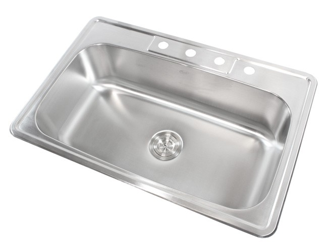 33 inch stainless steel top mount drop in single bowl kitchen sink   18 gauge 33 inch stainless steel top mount drop in single bowl kitchen sink      rh   cbath com