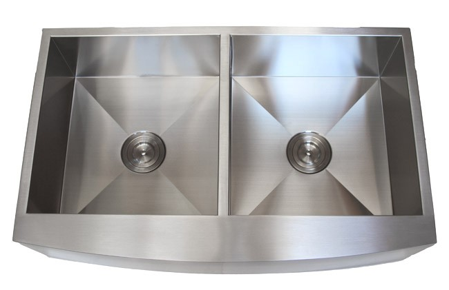 Stainless Steel Farmhouse Sink 36 Inch : 36 Inch Stainless Steel Curved Front Farmhouse Apron Kitchen Sink 50 ...