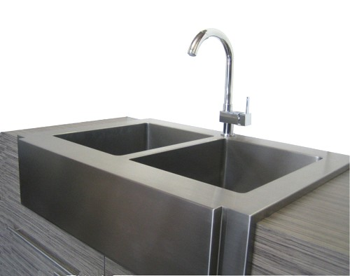 stainless steel apron front kitchen sink