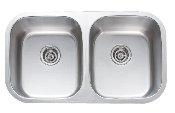 32 Inch Stainless Steel Undermount 50 50 Double Bowl