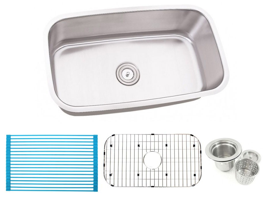 30 inch stainless steel undermount single bowl kitchen sink   16 gauge free accessories 30 inch stainless steel undermount single bowl kitchen sink   16 gauge  rh   cbath com