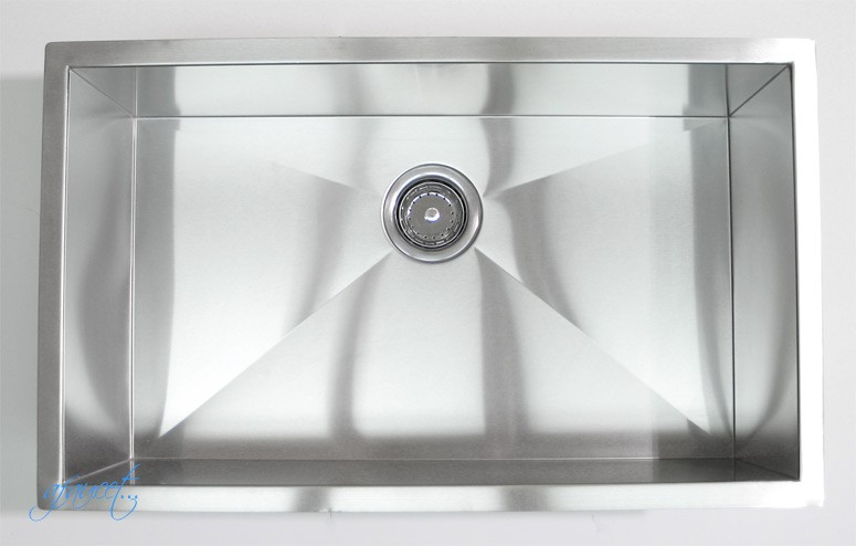 32 Inch Stainless Steel Undermount Single Bowl Kitchen Sink Zero ...