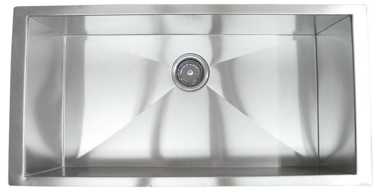 36 inch stainless steel undermount single bowl kitchen sink zero radius design 36 inch stainless steel undermount single bowl kitchen sink zero      rh   cbath com