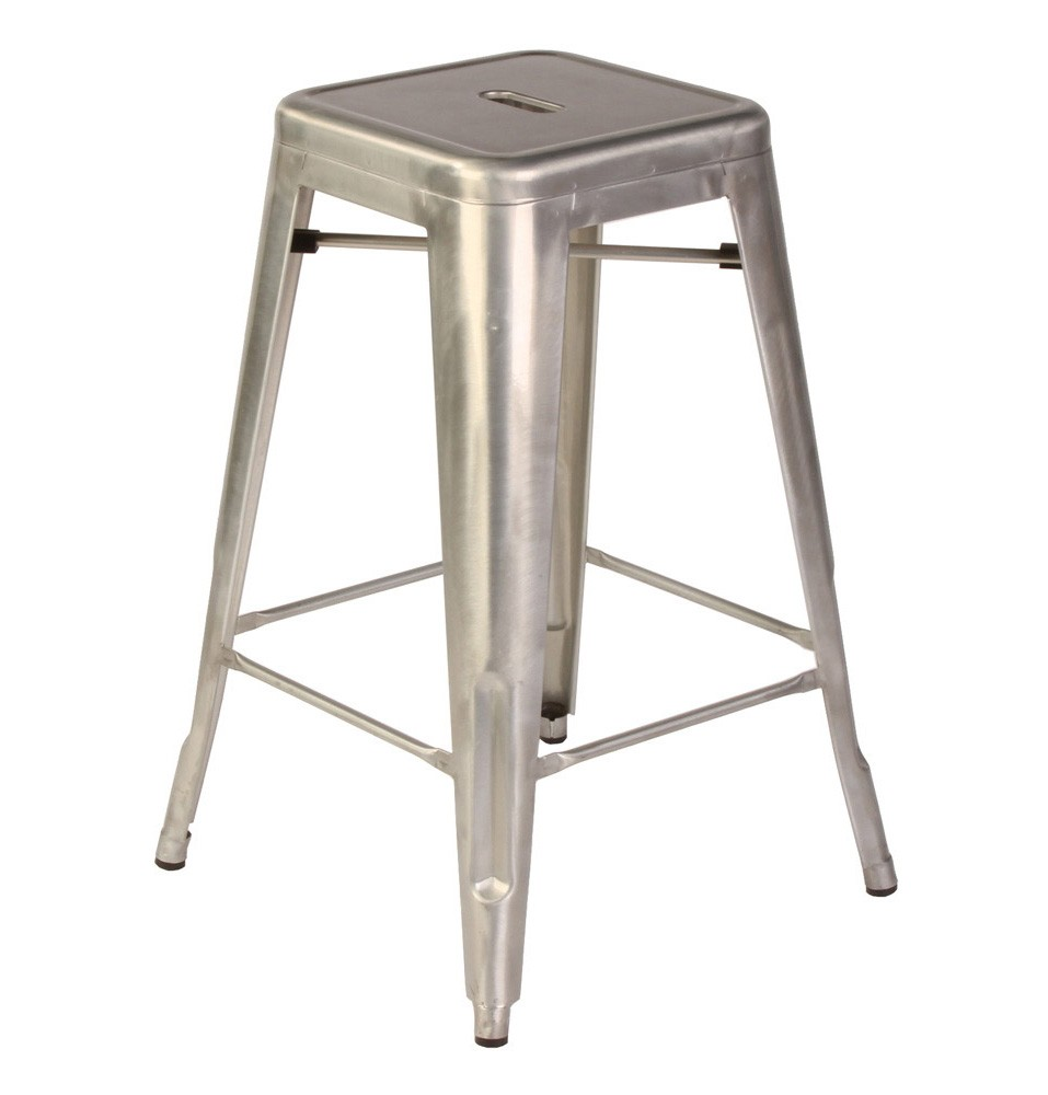 Tolix style metal industrial loft cafe counter stool in - Tolix counter stools ...