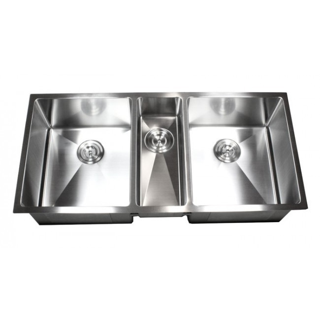 Superb 42 Inch Stainless Steel Undermount Triple Bowl Kitchen Sink 15mm Radius  Design   16 Gauge ...