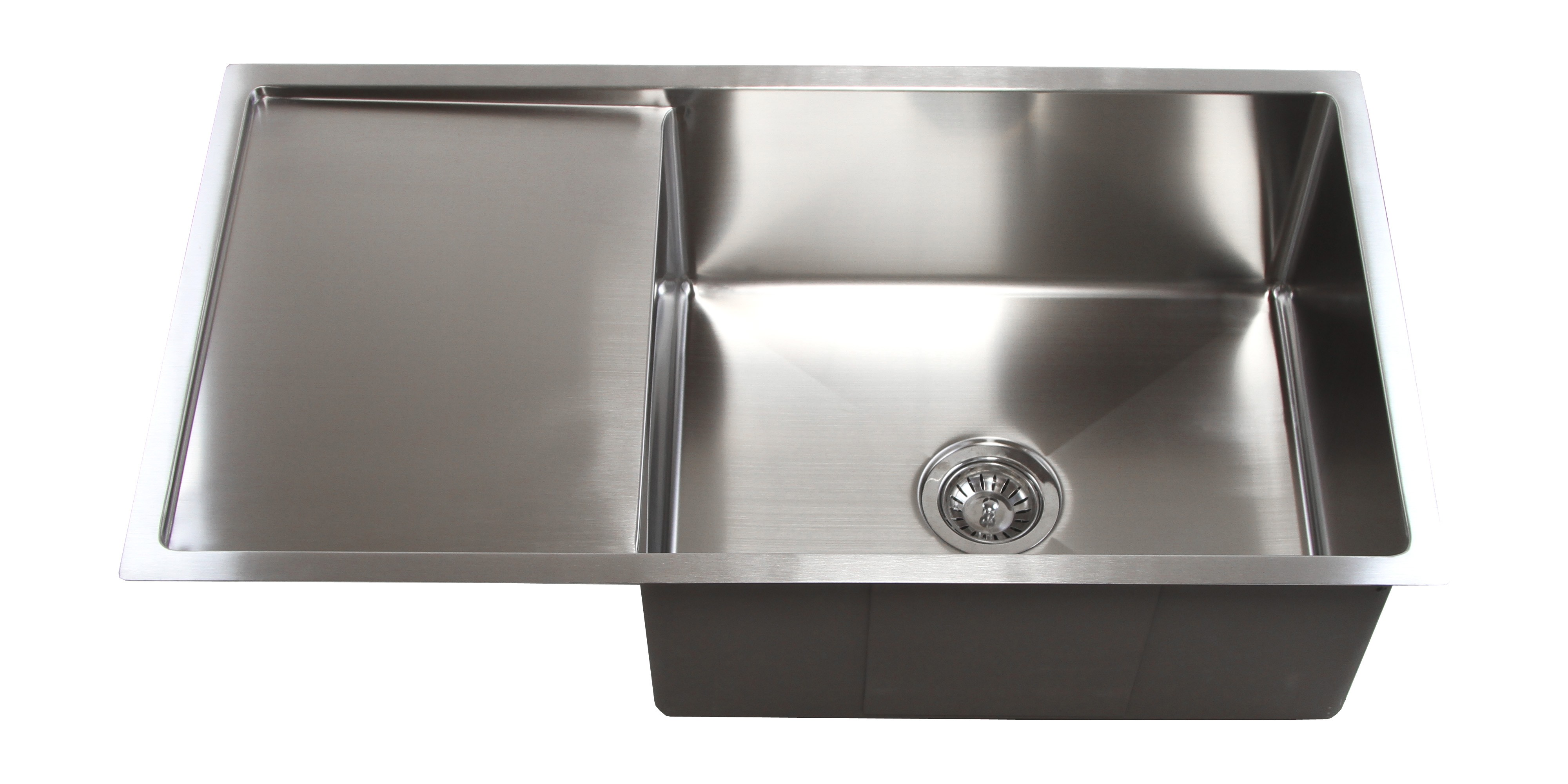 ... Design Undermount Single Bowl Kitchen Sink with 13 Inch Drain Board