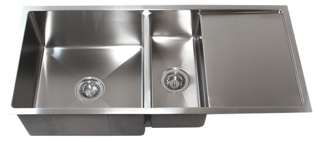 42 inch stainless steel 15mm radius design undermount double bowl kitchen sink with 13 inch drain board 42 inch stainless steel undermount double bowl kitchen sink 15mm      rh   cbath com