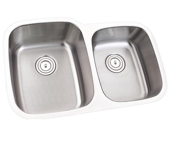 32 inch stainless steel undermount 60 40 double bowl kitchen sink   16 gauge 32 inch stainless steel undermount 60 40 offset double bowl      rh   cbath com