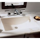 21 Inch Rectangular White Porcelain Ceramic Vanity Undermount Bathroom Vessel Sink