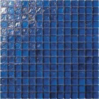 Cobalt Blue Irredescent Reflection Rippled Glass Mosaic Tile Mesh Backed Sheet