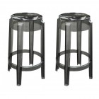 2 X Victoria Ghost Style Smoke Color Counter Stool