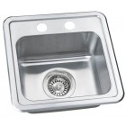 15 Inch Stainless Steel Drop In Single Bowl Kitchen / Bar / Prep Sink - 18 Gauge