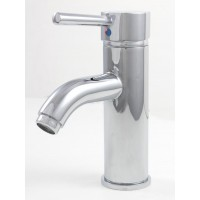 European Style Polished Chrome Bathroom Lavatory Vessel Sink Faucet - 7 x 3 Inch