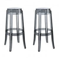 2 X Victoria Ghost Style Smoke Color Bar Stool
