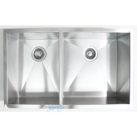 32 Inch Stainless Steel Undermount 40/60 Double Bowl Kitchen Sink Zero Radius Design