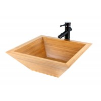 Passion - Bamboo Countertop Bathroom Lavatory Vessel Sink - 16-3/4 x 16-3/4 Inch