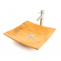Peace - Bamboo Countertop Bathroom Lavatory Vessel Sink - 16 x 16 Inch