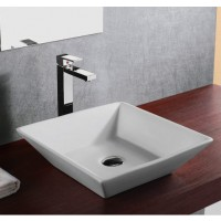16 Inch European Design Slope Wall Porcelain Ceramic Countertop Bathroom Vessel Sink