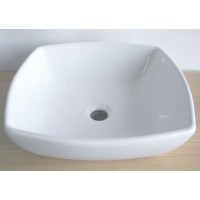 17.5 Inch White Porcelain Ceramic Countertop Bathroom Vessel Sink