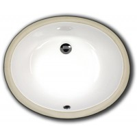 17 Inch Porcelain Ceramic Vanity Undermount Bathroom Vessel Sink