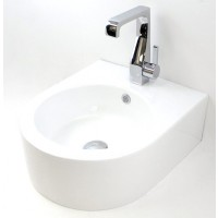 Porcelain Ceramic Single Hole Bathroom Sink - 22 x 18 x 6-1/2 Inch-1
