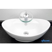 23 Inch Porcelain Ceramic Single Hole Countertop Bathroom Vessel Sink