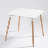 Eames Style DSW White Square Dining Table