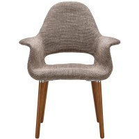 Organic Designer Armchair Brown
