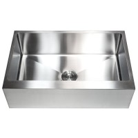 33 Inch Stainless Steel Flat Front Farm Apron Single Bowl Kitchen Sink