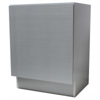 24 Inch European Design Bathroom Vanity Single Door Cabinet Base Gray Textured Finish