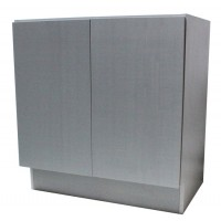 27 Inch European Design Bathroom Vanity Double Door Cabinet Base Gray Textured Finish