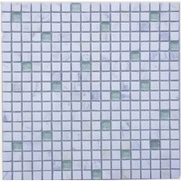 Frosted White Blend Rippled Glass Mosaic Tile Mesh Backed Sheet