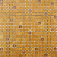 Frosted Yellow Blend Rippled Glass Mosaic Tile Mesh Backed Sheet