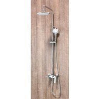 Ariel Halo Exposed Shower Faucet Set with Tub Filler and Hand Shower
