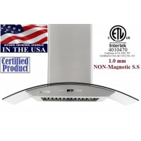 XtremeAIR 36 Inch Wall Mount Stainless Steel Range Hood PX01-W36