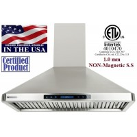 XtremeAIR 36 Inch Wall Mount Stainless Steel Range Hood 900 CFM PX02-W36