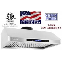 XtremeAIR 36 Inch Under Cabinet Mount Stainless Steel Range Hood 900 CFM R136