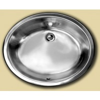 Oval Stainless Steel Single Bowl Undermount  Kitchen / Bathroom / Bar Sink  - 19-1/4 x 16 x 6-1/2 Inch