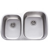 31 Inch Stainless Steel Undermount 40/60 Double Bowl Kitchen Sink - 18 Gauge