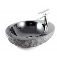 Starburst Galaxy - Natural Stone Countertop Bathroom Lavatory Vessel Sink - 22-1/8 x 18-3/16 Inch