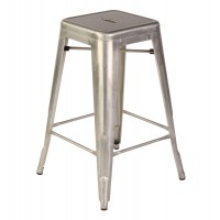 Tolix Style Metal Industrial Loft Cafe Counter Stool in Gun Metal